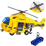 HERSITY Hubschrauber Kinder mit Drehpropeller, Flugzeug Spielzeug Groß Licht und Sound Helikopter Kinderspielzeug mit Bewegliche...