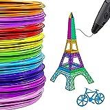 Tokenhigh 3D Stift Filament PLA 1.75mm 3D Pen Filament 20 Farben 10M,Umweltfreundliches Material für 3D Druck Stift...