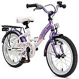 BIKESTAR Kinderfahrrad für Mädchen ab 4-5 Jahre | 16 Zoll Kinderrad Classic | Fahrrad für Kinder Lila & Weiß | Risikofrei...