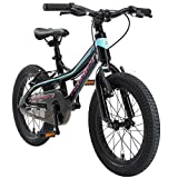 BIKESTAR Kinder Fahrrad Aluminium Mountainbike mit V-Bremse für Mädchen und Jungen ab 4-5 Jahre | 16 Zoll Kinderrad MTB |...