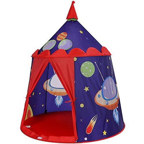 SONGMICS Spielzelt, Prinzenschloss Zelt für Jungs Kleinkinder, Spielhaus für innen und außen, tragbares Pop-Up Indianerzelt...