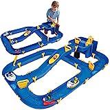 BIG - Waterplay Niagara - Wasserbahn blau, 130 x 90 x 22cm große Bahn, mit 3 Booten, Wasserflugzeug und 4 Spielfiguren, 2...