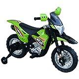 HOMCOM Elektro-Motorrad Kindermotorrad Elektrofahrzeug 3 bis 6 Jahre 3–6 km/h MP3 Musik LED-Licht Sound Metall + Kunststoff...