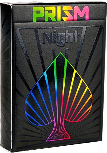 PREMIUM SPIELKARTEN, hochwertiges schwarzes Kartendeck, Prisma-Nachtglanztinte, toll als Pokerkarten, originelles Kartenspiel für...