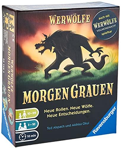 Ravensburger 26729 - Werwölfe - MorgenGrauen, Spielereihe ab 10 Jahren, Gesellschaftsspiel für 3-10 Spieler, Partypsiel