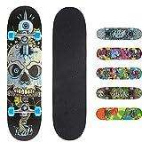 Xootz Kinder-Skateboard für Absolute Anfänger Double-Kick-Trick –Ahorndeck, 78,7x 20,3cm, Kinder, Snake Complete...