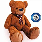 Izzy XXL Teddybär 150cm in Braun, Großer Teddy Riesenteddy Kuscheltier - Tüv Süd geprüft