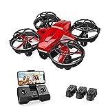 Holy Stone HS420 Mini Drohne mit Kamera für Kinder, RC Quadrocopter mit 3 Batterien Lange Flugzeit, Wifi Live...