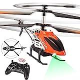 VATOS RC Hubschrauber - 22 Minuten Fliegen Ferngesteuerter Hubschrauber mit LED-Licht - 2,4 GHz & 3,5 Kanäle Mini Hubschrauber...