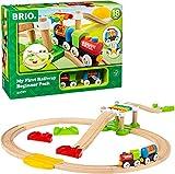 BRIO World 33727 Mein erstes BRIO Bahn Spiel Set – Zug mit Waggon, Schienen & Hängebrücke für Kleinkinder – BRIO...