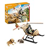 Schleich 42476 Wild Life Spielset - Helikopter Tierrettung, Spielzeug ab 3 Jahren,8 x 24 x 18 cm