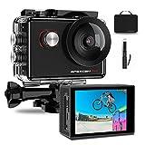 Apexcam Pro Action Cam 4K 20MP Sportkamera WiFi Unterwasserkamera 2.4G Fernbedienung Wasserdicht 40m 2.0 Zoll LCD Bildschirm 170...