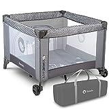 Lionelo Fie Laufstall Laufstall Baby Baby Bett Reisebett Baby ab Geburt bis 15 kg Seiteneingang Lockguard System und Blockade der...