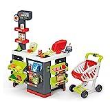 Smoby - Supermarkt mit Einkaufswagen - Spielsupermarkt mit Licht, Sound und Elektronischen Funktionen, für Kinder ab 3 Jahren