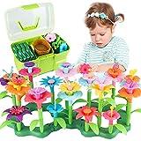 CENOVE Blumengarten Spielzeug für 3-6 Jährige Mädchen, DIY Bouquet Sets mit Aufbewahrungskiste, Kunst Blumenarrangement...