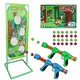 DeeXop Ziel Schießen Spielzeugpistolen für Kinder,2PK Foam Ball Popper Air Toy Guns, 24 Foam...