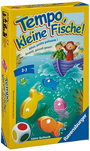 Ravensburger 23334 - Tempo, kleine Fische, Mitbringspiel für 1-6 Spieler, Kinderspiel ab 3 Jahren, kompaktes Format, Reisespiel,...
