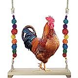 X-zoo Vogelschaukeln Hühnerschaukel aus Natürlichem Holz, Spielzeug Sitzstangen Vogelspielplatz ür Hühner Papageien, Aras und...