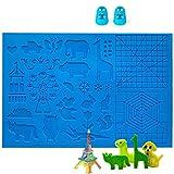 DOLYUU 3D Stift Vorlage, 3D Druckstift Vorlage,3D Stifte Matte,große Matte (41,5 x 27,5cm) mit Tiermuster hilfreich für...