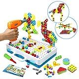 Mosaik Steckspiel Schraube Spielzeug - 3D Puzzle Kinderspielzeug ab 3 4 5 6 Jahre Alt Pädagogisches Spielzeuge mit Elektronischem...