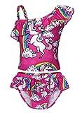 AmzBarley Einhorn Badeanzüge für Kinder Mädchen Badebekleidung Einteiler Kostüm Zwei/EIN Stück Tankini Schwimmbad Strand...