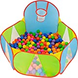 NUBUNI Bällebad für Kinder : Bällepool : Bällebad für Baby : Kleinkind Bällchenpool : Bällchenbad : Planschbecken : Baby...