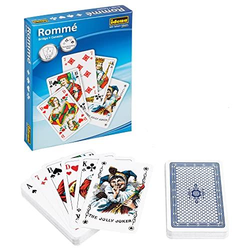 Idena 6250080 - Spielkarten für Rommé, Canasta und Bridge, 2 x 55 Karten, französisches Blatt, für abwechslungsreiche...