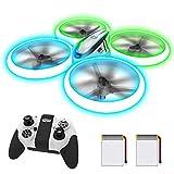 AVIALOGIC Q9s Drone Drohne für Kinder mit Höhehalten und Kopflosem Modus,RC Quadcopter mit Blauen & Grünen Lichter und 2...