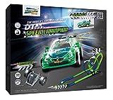 Darda 50251 - Darda Rennbahn DTM Speed Champion, Fahrbahnlänge ca. 3,80 m, mit 2 Loopings, Steilkurve und DTM Rennwagen BMW M4...