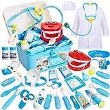 BUYGER Arztkoffer Kinder Rollenspiel Spielzeug Medizinisches Doktor Arztkittel Geschenke Kinderspielzeug für Mädchen Junge ab 3...