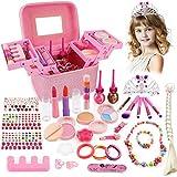 balnore Kinderschmink Set Waschbar Kosmetikset Schminkkoffer Kinder Prinzessin Kosmetikset Mädchen Rollenspiel Spielzeug Geschenk...