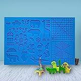3D Stift Vorlage, LATTCURE 3D Druckstift Vorlage Stifte Matte, große Matte mit Tiermuster hilfreich für Anfänger, Kinder und...