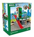 BRIO World 33204 Parkhaus, Straßen & Schienen – Eisenbahnzubehör für die BRIO Holzeisenbahn – Empfohlen für Kinder ab 3...