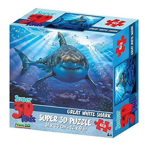 Howard Robinson hr1358263-teiliges Super 3D Kinder Puzzle–Great White Shark