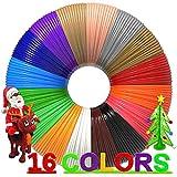 Dikale 3D Stifte Nachfüllungen 16 Farben 96 Meter, 3D Stifte Filament 1,75 mm, Ungiftiger, Glatter Stift Nachfüllungen