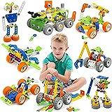 MOONTOY Konstruktionsspielzeug für Kinder, STEM Gebäude Kit Bausteine Spielzeug für Jungen und Mädchen Baukasten Pädagogische...