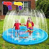 AILUKI Splash Pad Wasserspielzeug Spielmatte Outdoor Garten Splash Spielmatte für Baby Party Sprinkler und Splash Play Matte...