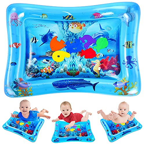 VATOS Wassermatte Baby, Baby Spielzeuge 3 6 9 Monate, Baby Wassermatte ist Perfektes Sensorisches Spielzeug für Baby Frühe...