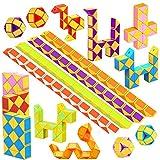 WEARXI Mitgebsel Kindergeburtstag - 24er 24 Blöcke Magische Schlange 3D Puzzle Spielzeug Knobelspiele Kinder, Give Aways...
