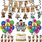 Kinder Geburtstags Dekoration Set Karikatur Luftballons Hängen Wirbel Geburtstag Dekoration
