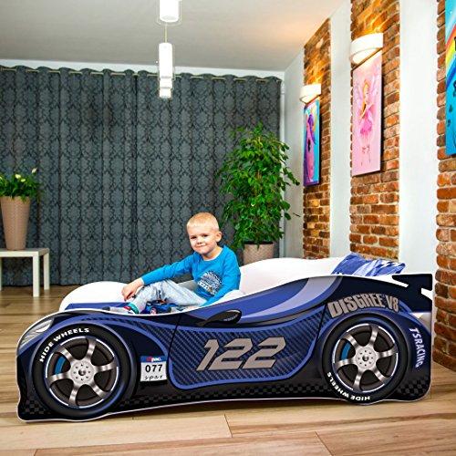 Nobiko Autobett Kinderbett Bett Schlafzimmer Kindermöbel Spielbett 140 X 70 cm 160 x 80 cm 180 X 80 cm Matratze Lattenrost...