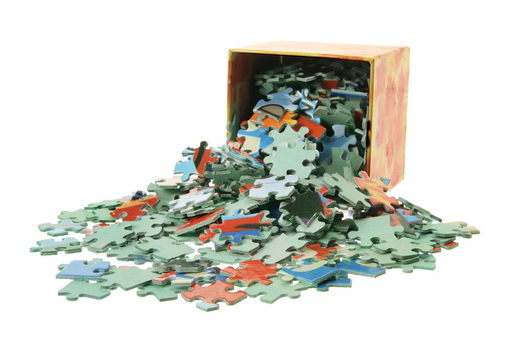 Puzzle aufbewahren