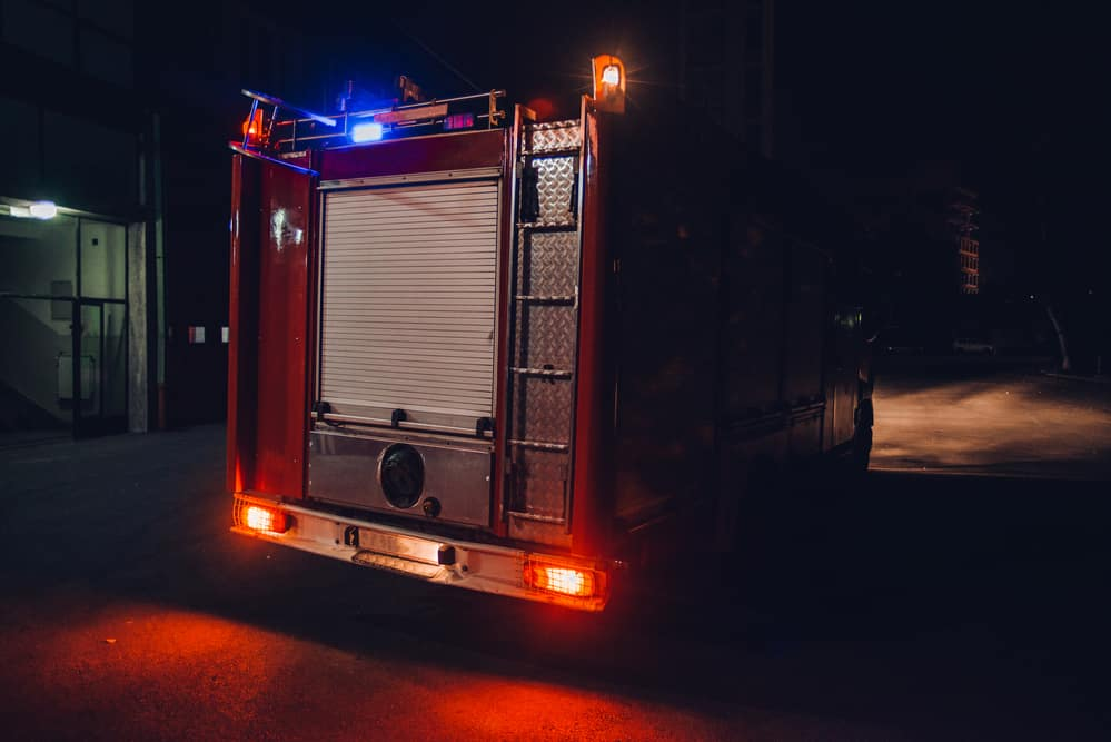 Feuerwehrauto von hinten