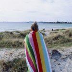 Das Einhorn Badetuchfür den Strand oder Schwimmbad